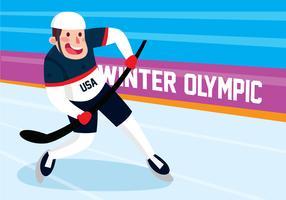 Hockeyspieler in Aktion vektor