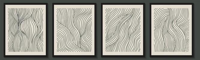 trendig samtida uppsättning abstrakta geometriska minimalistiska former vektor