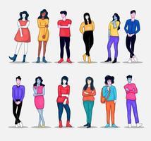 Gruppe von Personen Illustration Sammlung