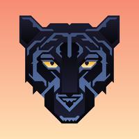 svart panter mascot djur karaktär