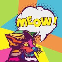 Cat Pop Art Portrait Abbildung vektor