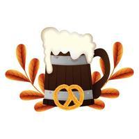 Oktoberfest Bier und Brezel Vektor-Design vektor