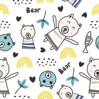 söt gris sömlös bakgrund. söta små grisar på färgglada. kreativ barnslig konsistens. perfekt för tyg, textil. vektor mönster