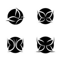 skönhet fjäril logotyp bilder