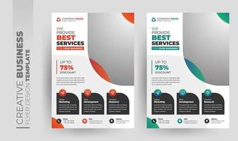 multifunktionsdesign för företagsflygblad och broschyromslag vektor