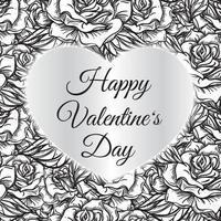 glückliche Valentinstag lasergeschnittene Illustration vektor