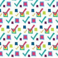 Häkchen, nahtloses Muster des Kontrollkästchenvektors vektor