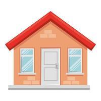 husbyggnad fasad isolerad ikon vektor