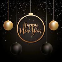 Frohes neues Jahr Vektor-Design vektor