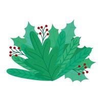 glad blommig dekoration för god jul vektor