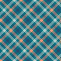 nahtloses Vektormuster der Farbe Tartanblau vektor