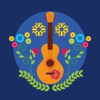 mexikanischer Gitarrenvektorentwurf vektor