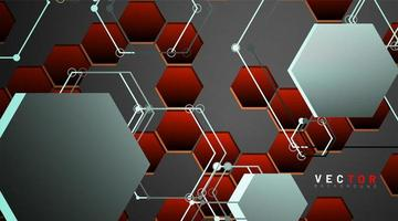 abstrakter geometrischer Sechseckformhintergrund vektor