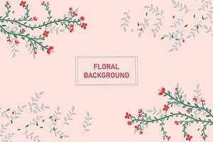 Blume und Blätter Hintergrund vektor