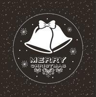 god julkort med hängande klockor vektor