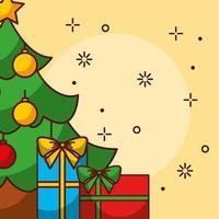 god julkort med tall vektor