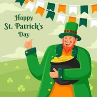 Kobold feiert den Tag des Heiligen Patrick vektor