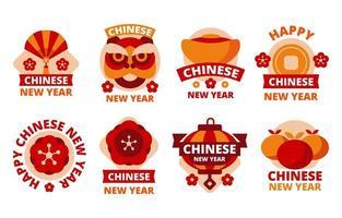 chinesisches Neujahrslabel vektor