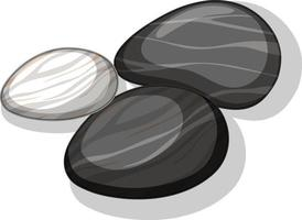 Satz schwarze Steine auf weißem Hintergrund vektor