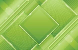 geometrisches Grün mit Wellenmuster und diagonaler Formzusammensetzung