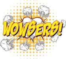komisk pratbubbla med wowsers text