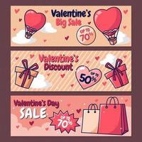 Alla hjärtans dag försäljning banner vektor