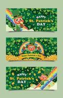 Saint Patrick's Day Kobold Banner Vorlagen vektor
