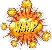 Comic-Sprechblase mit Whap-Text