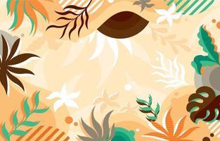bunter abstrakter Hintergrund von Blumen vektor