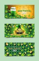 Saint Patrick's Day Banner Vorlagen vektor