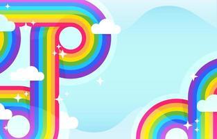 bunter Retro-Regenbogenhintergrund vektor