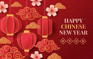 Gott kinesiskt nyårskoncept vektor