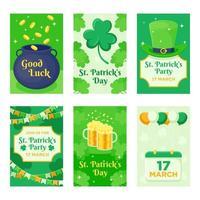 St. Patrick's Day Karte vektor