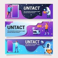 untact banner design som representerar kontaktlös teknik