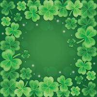 schöner und eleganter grüner Kleehintergrund des Farbverlaufs