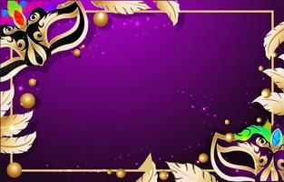 Luxus Karneval Hintergrund Vorlage vektor