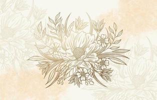 Luxus handgezeichnete Blumen vektor