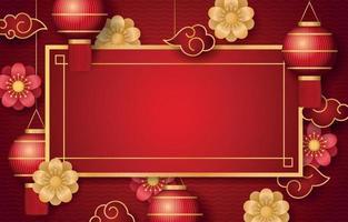 kinesisk festlighet bakgrund vektor