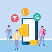 online affärsidé med smartphone