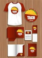 Bündel von mexikanischen Lebensmittelmodellelementen Branding