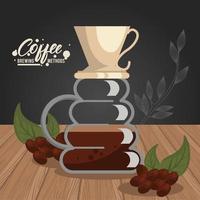 häll över kaffebryggningsmetoden