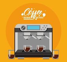 espressomaskin kaffebryggningsmetod