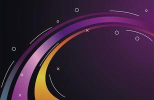 bunte Lichtspur im lila und gelben Hintergrund vektor