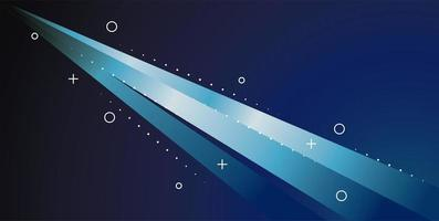 färgrik ljus spår i blå bakgrund vektor