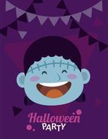 Happy Halloween Party mit Frankenstein und Girlanden