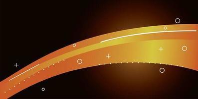 bunte Lichtspur im gelben Hintergrund vektor