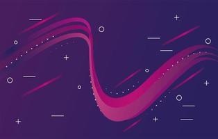 färgglada ljus spår i lila bakgrund vektor