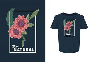 Denken Sie an einen natürlichen Hemddruck mit Blumen