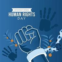 Menschenrechtsplakat mit Handschellen vektor