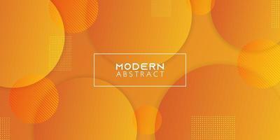 geometrisk cirkel abstrakt bakgrund. gul och orange färger lutning. vektor